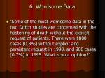 6 worrisome data