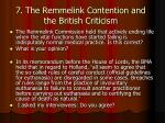 7 the remmelink contention and the british criticism