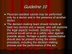 guideline 10