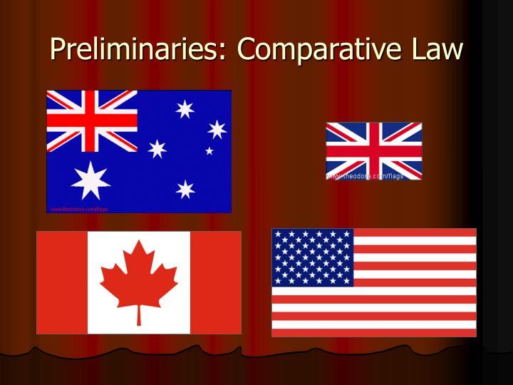 Preliminaries comparative law