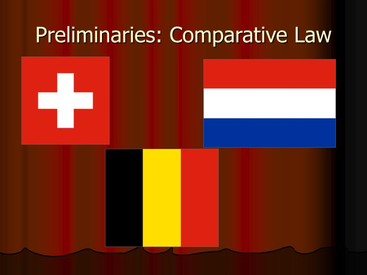 Preliminaries comparative law1