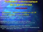 traitement arthroscopique de la gonarthrose8