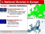 europe relevant institutions