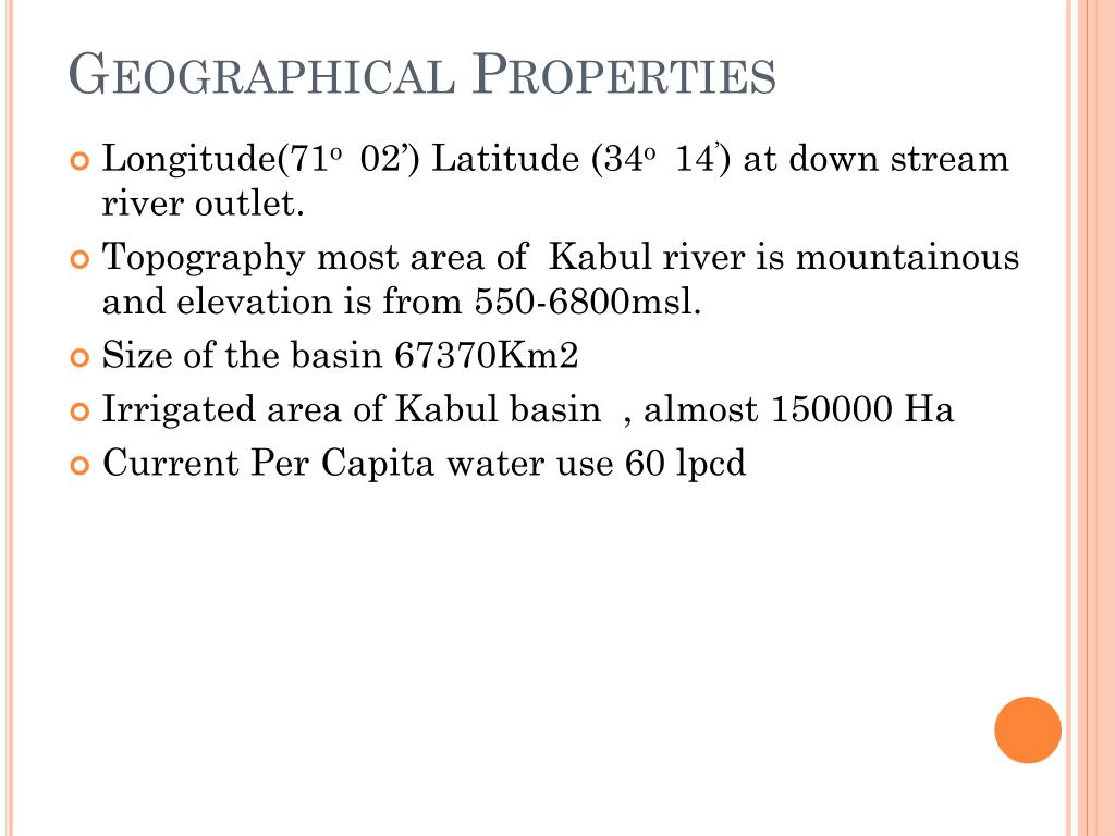 Geographical Properties