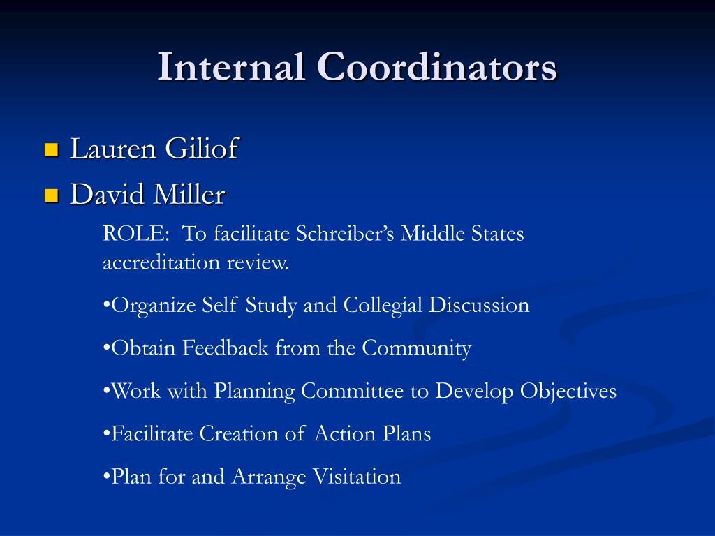 Internal Coordinators