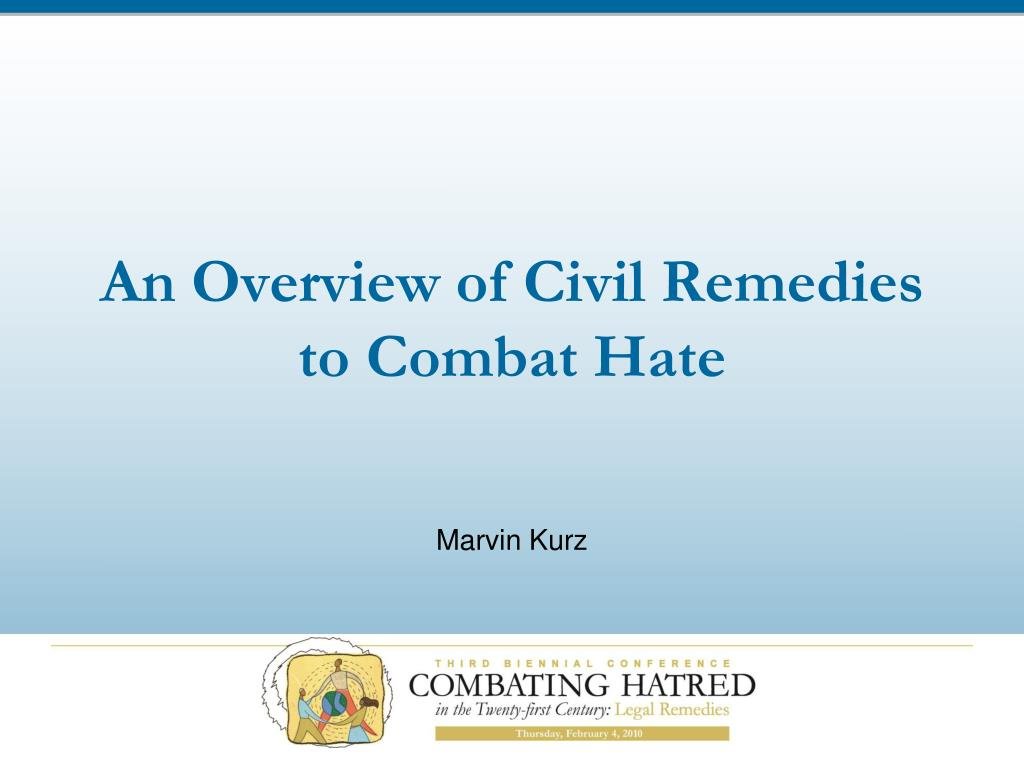 an overview of civil remedies to combat hate l.