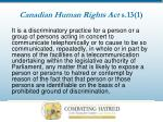 canadian human rights act s 13 1