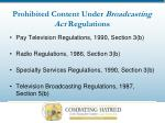 prohibited content under broadcasting act regulations