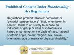 prohibited content under broadcasting act regulations12