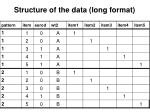 structure of the data long format