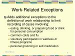 work related exceptions