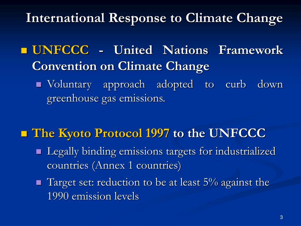 International Response to Climate Change