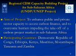 regional cdm capacity building project for sub saharan africa undp unep project