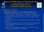regional cdm capacity building project for sub saharan africa undp unep project16