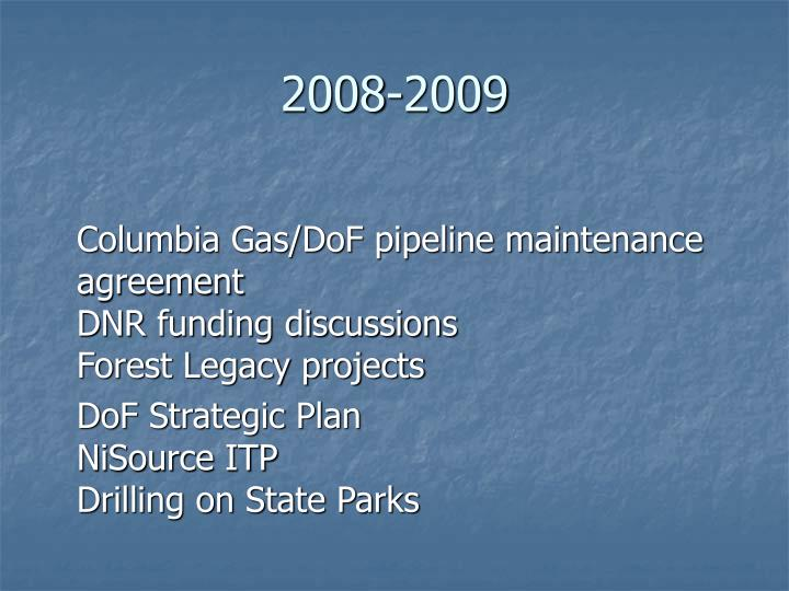 2008 2009