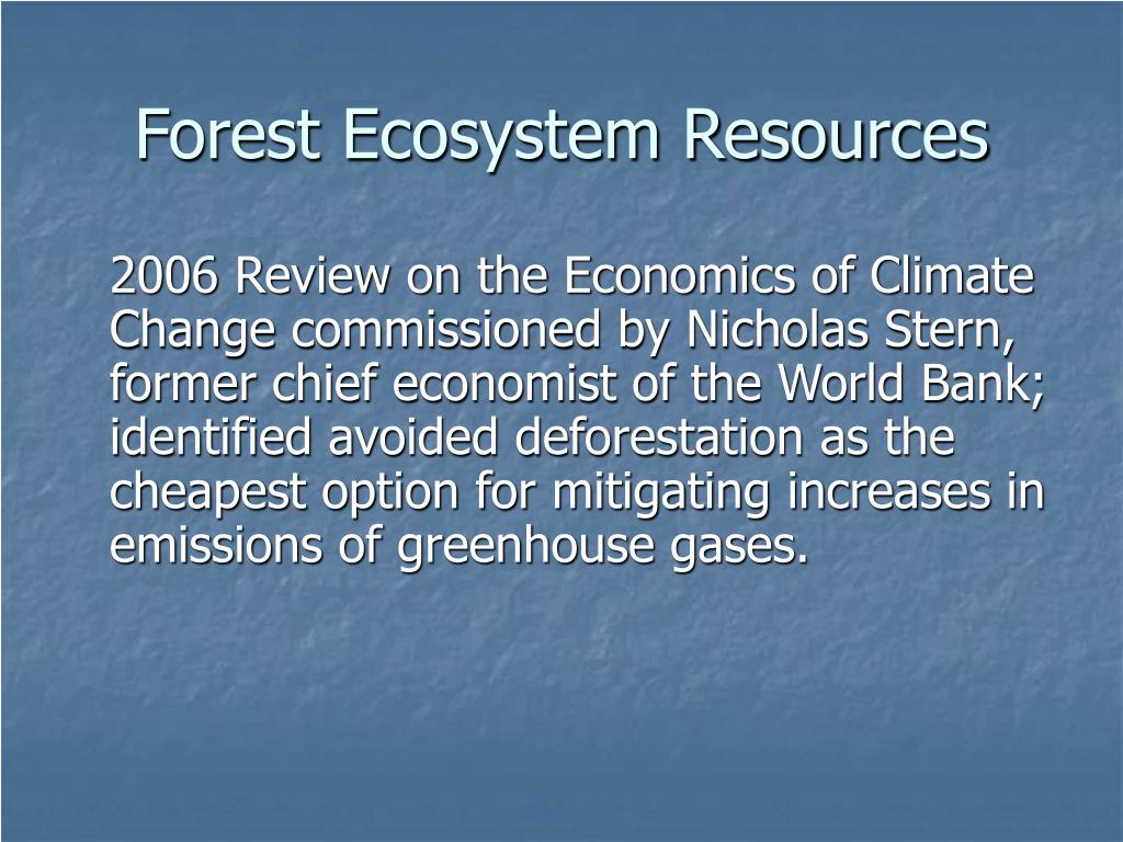 Forest Ecosystem Resources