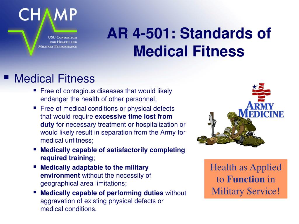 AR 4-501: Standards of Medical Fitness