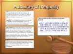 a journey of inequality21