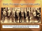 early protests against inequality