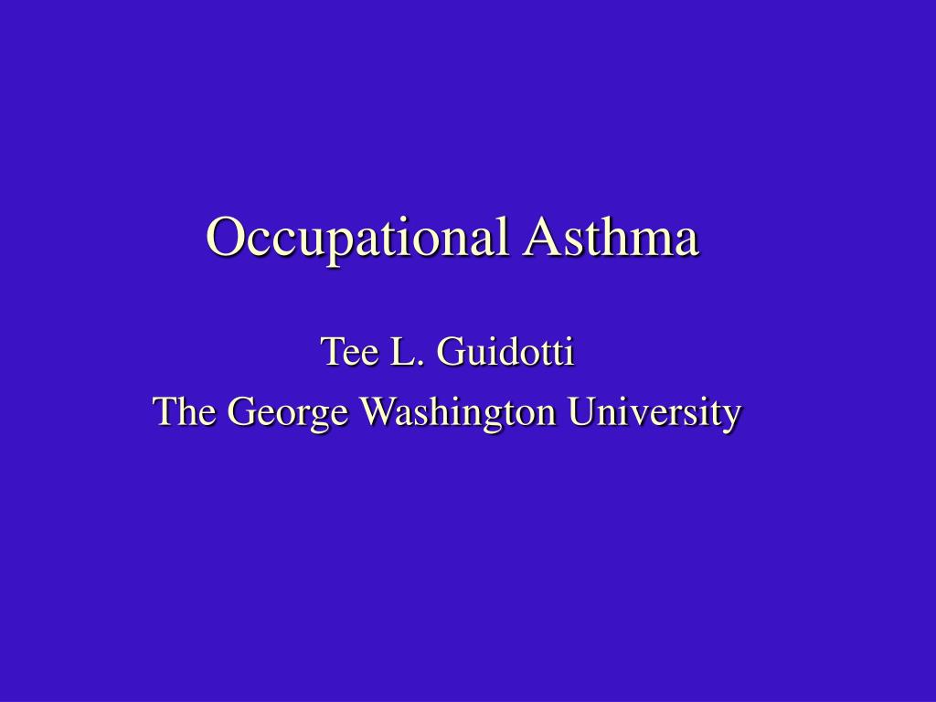 occupational asthma l.