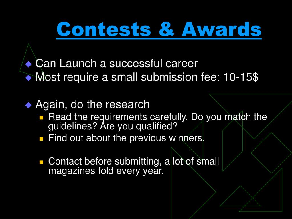 Contests & Awards