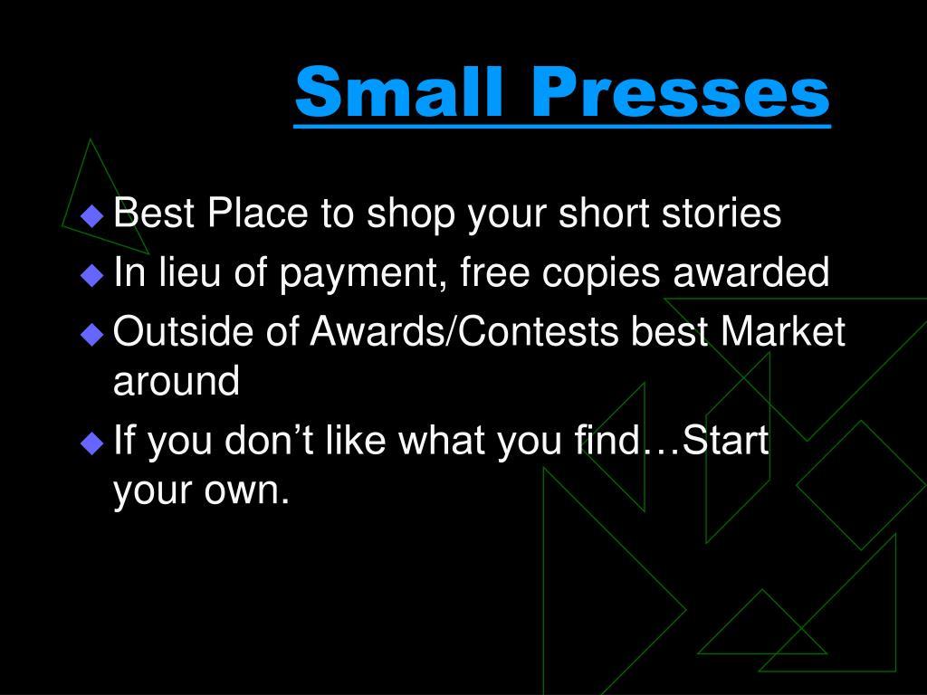 Small Presses