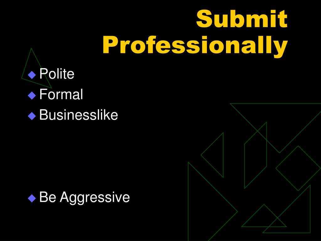 Submit Professionally
