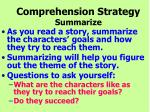 comprehension strategy summarize