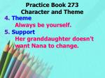 practice book 273 character and theme1