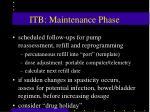 itb maintenance phase