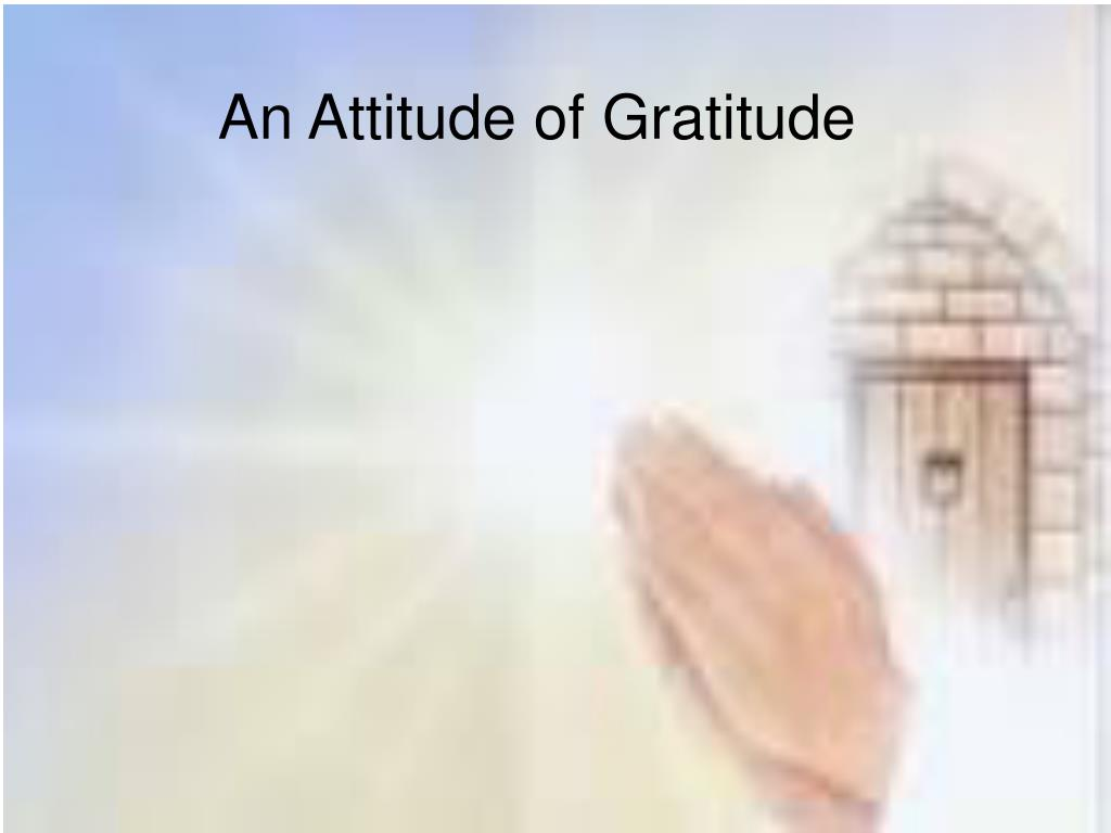an attitude of gratitude l.