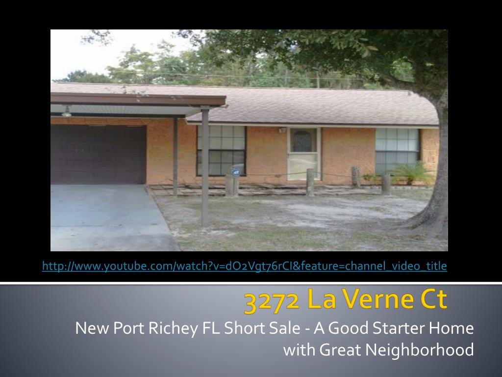new port richey fl short sale a good starter home with great neighborhood l.