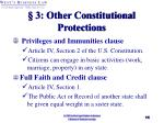 3 other constitutional protections