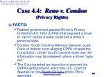case 4 4 reno v condon privacy rights