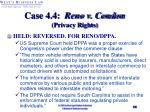 case 4 4 reno v condon privacy rights30