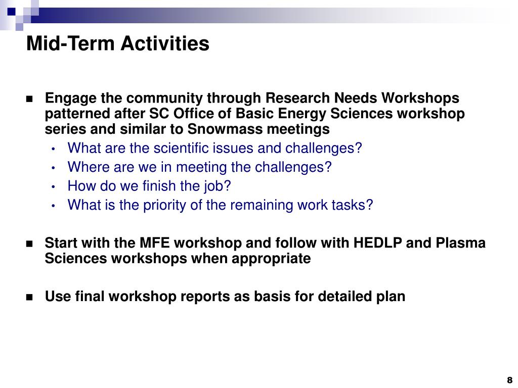 Mid-Term Activities