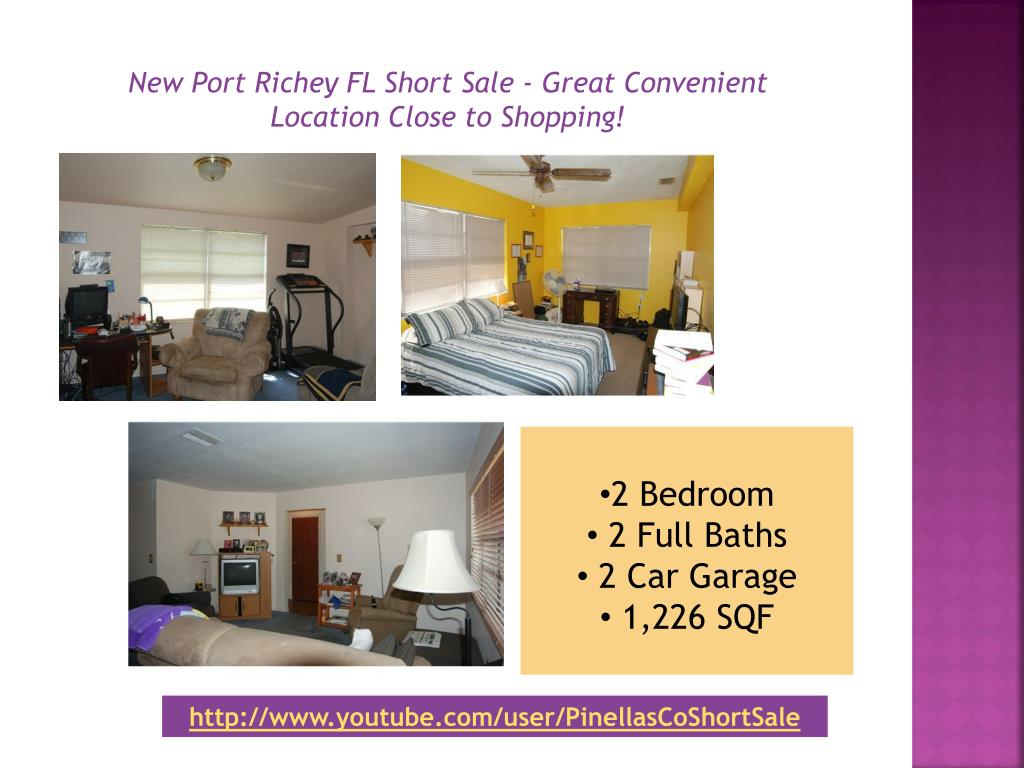 New Port Richey FL Short Sale - Great Convenient Location Close to Shopping!