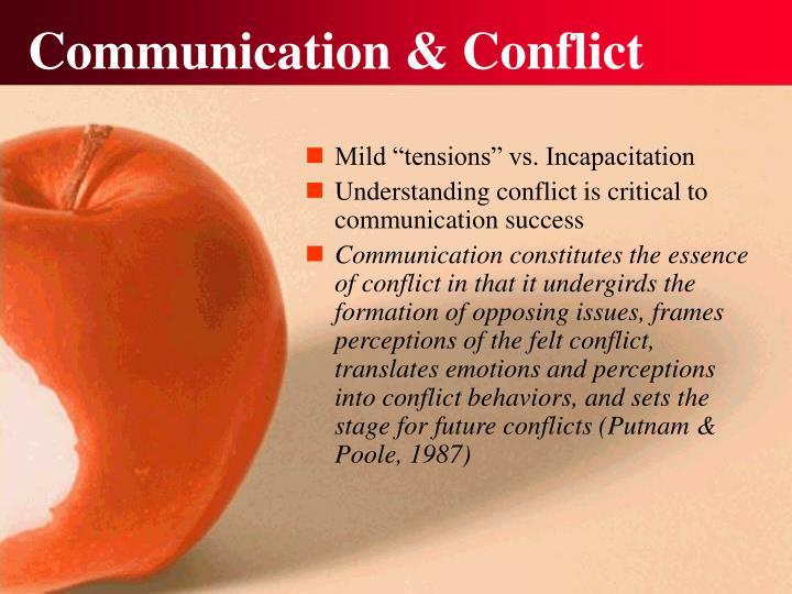 Communication conflict