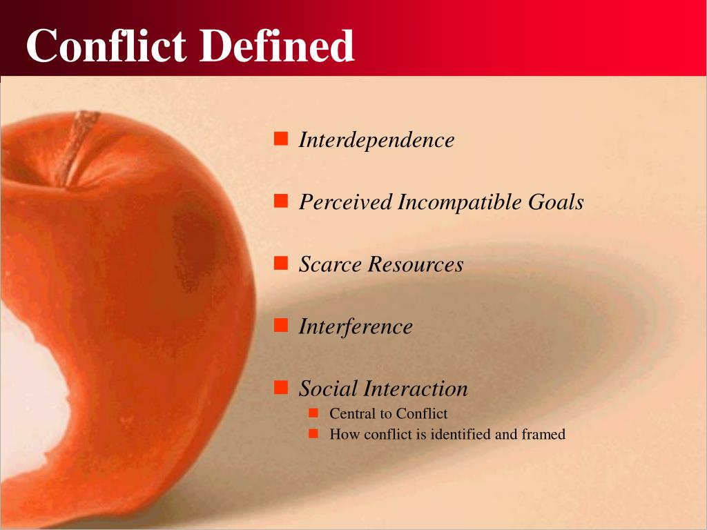 Conflict Defined