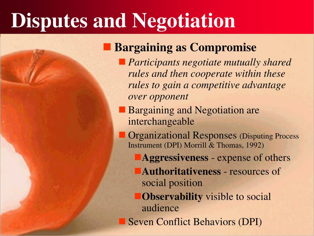 Disputes and Negotiation