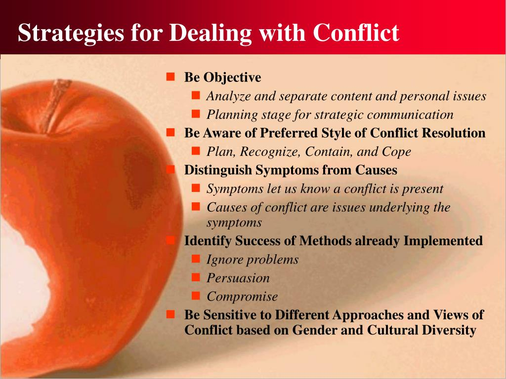 Strategies for Dealing with Conflict