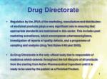 drug directorate5