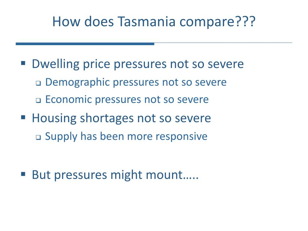 How does Tasmania compare???