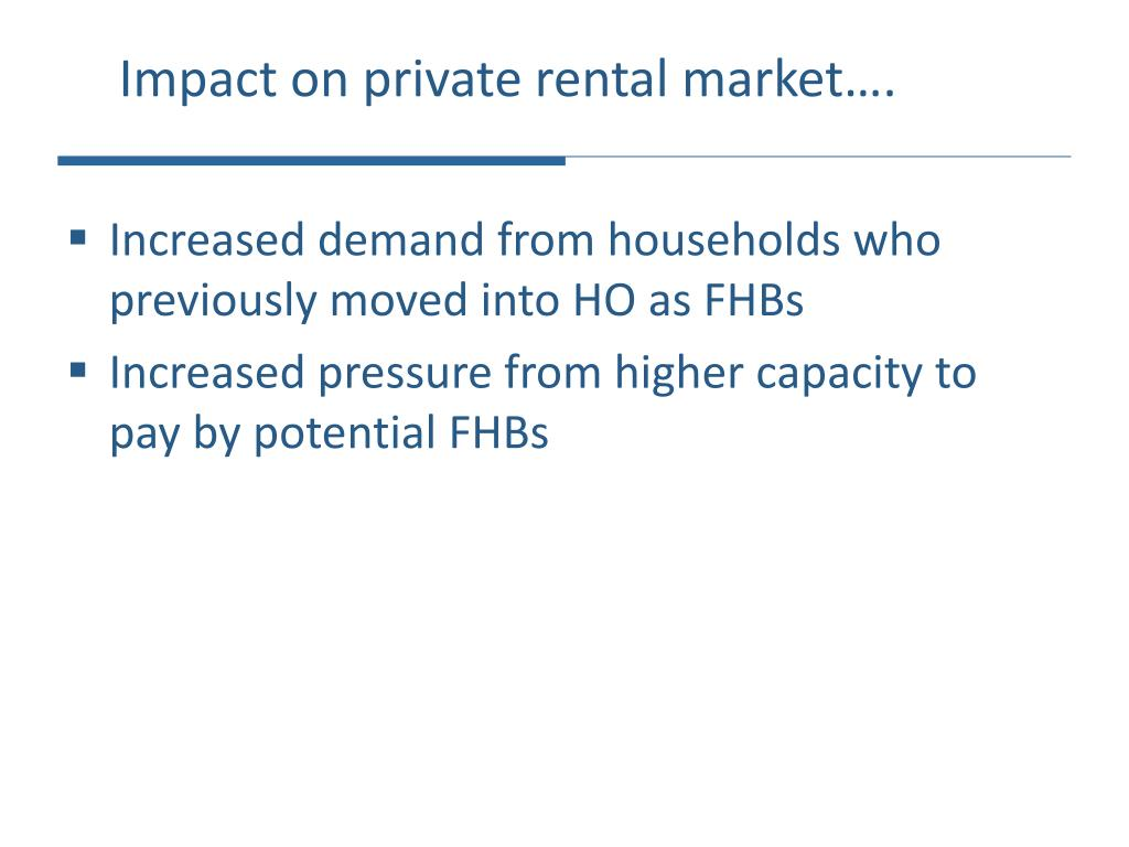 Impact on private rental market….