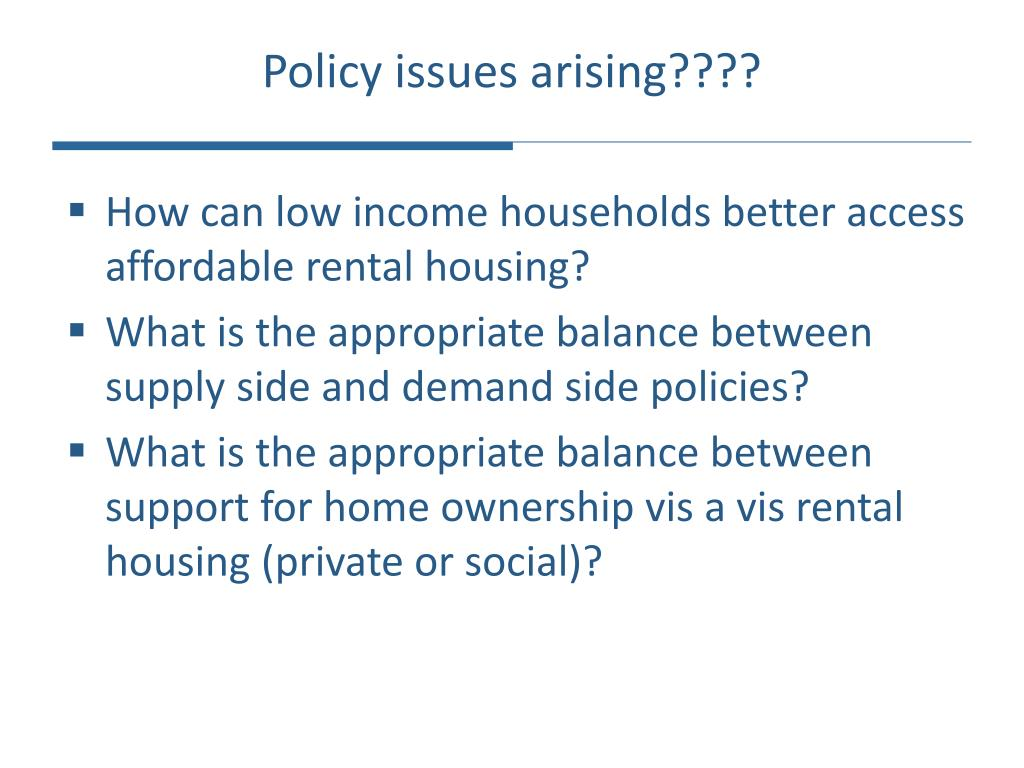 Policy issues arising????
