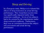 sleep and driving