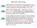 omb gao cbo findings