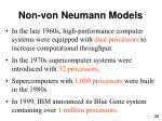 non von neumann models36