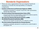 standards organizations