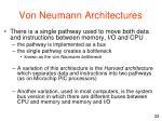 von neumann architectures